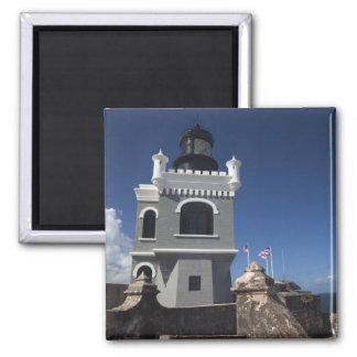 Puerto Rico, San Juan, Old San Juan, El Morro 2 Inch Square Magnet