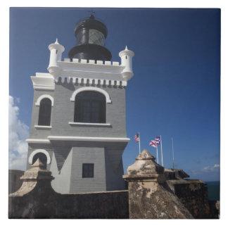 Puerto Rico, San Juan, San Juan viejo, EL Morro Azulejo Cuadrado Grande