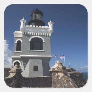 Puerto Rico, San Juan, San Juan viejo, EL Morro Pegatina Cuadrada