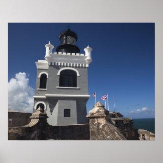 Puerto Rico, San Juan, San Juan viejo, EL Morro Póster
