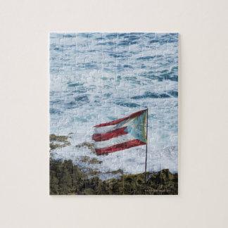 Puerto Rico San Juan viejo bandera del arroz de Puzzle