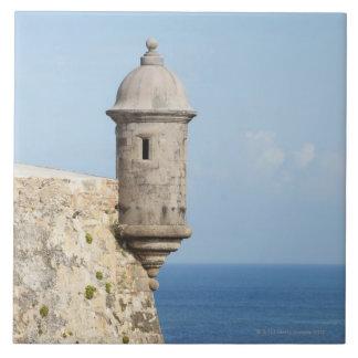 Puerto Rico, San Juan viejo, sección del EL Morro Azulejo Cuadrado Grande
