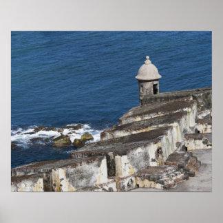 Puerto Rico, San Juan viejo, sección del EL Morro Poster