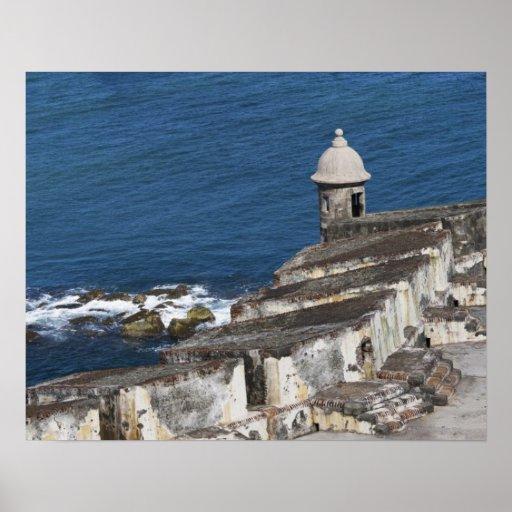 Puerto Rico, San Juan viejo, sección del EL Morro Póster