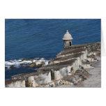 Puerto Rico, San Juan viejo, sección del EL Morro Tarjeta De Felicitación