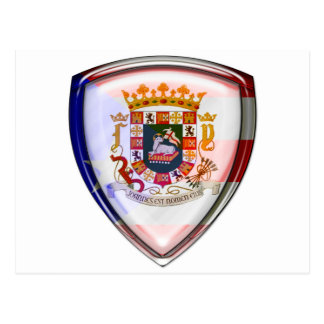 Puerto Rico - Seal on Shield Postcard