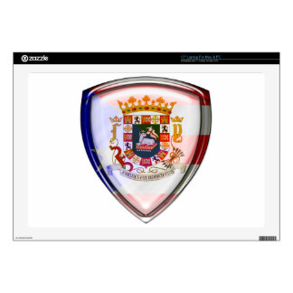 Puerto Rico - Seal on Shield Laptop Decal