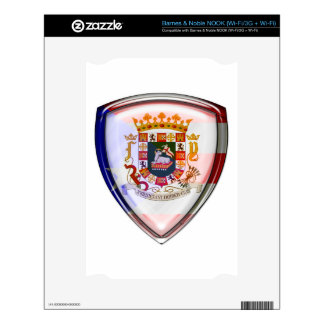 Puerto Rico - Seal on Shield Decal For The NOOK