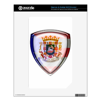 Puerto Rico - Seal on Shield Skin For The NOOK Color