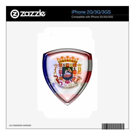 Puerto Rico - Seal on Shield Skin For The iPhone 3G