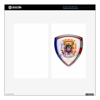Puerto Rico - Seal on Shield Decal For Kindle Fire