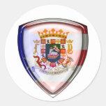 Puerto Rico - sello en el escudo Etiqueta Redonda