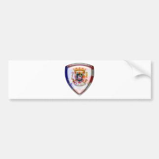 Puerto Rico - sello en el escudo Pegatina Para Auto
