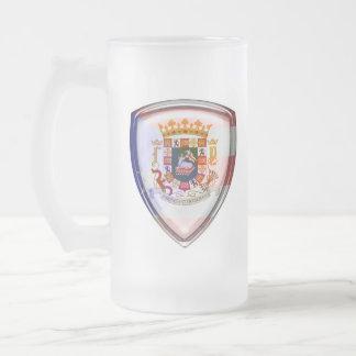 Puerto Rico - sello en el escudo Taza De Cristal