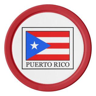 Puerto Rico Set Of Poker Chips at Zazzle