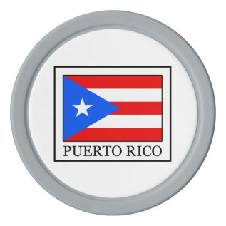 Puerto Rico Set Of Poker Chips at Zazzle