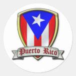 Puerto Rico - Shield2 Classic Round Sticker