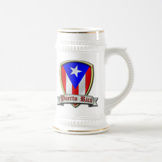 Puerto Rico - Shield2 Jarra De Cerveza