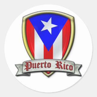Puerto Rico - Shield2 Pegatina Redonda