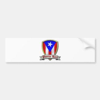 Puerto Rico - Shield2 Pegatina Para Auto