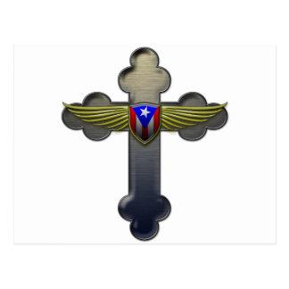 Puerto Rico - Shield & Cross Postcard