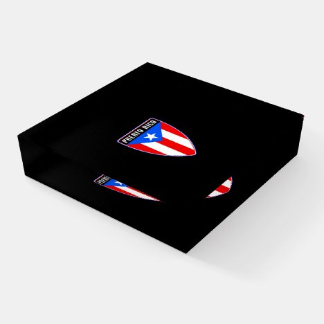 Puerto Rico Shield Paperweight