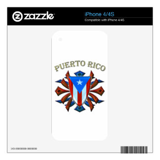 Puerto Rico - Shield Skin For iPhone 4S