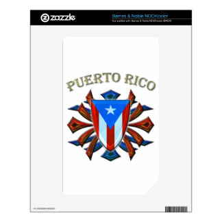 Puerto Rico - Shield Skins For The NOOK Color