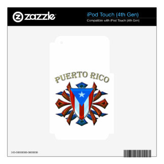 Puerto Rico - Shield iPod Touch 4G Skins