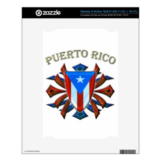 Puerto Rico - Shield Skins For The NOOK