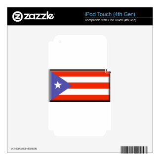 Puerto Rico Decal For iPod Touch 4G