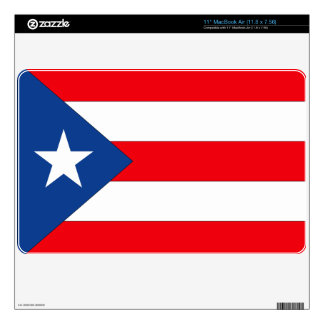 """Puerto Rico Decal For 11"""" MacBook Air"""