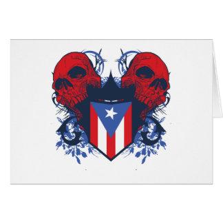 Puerto Rico Skulls Card