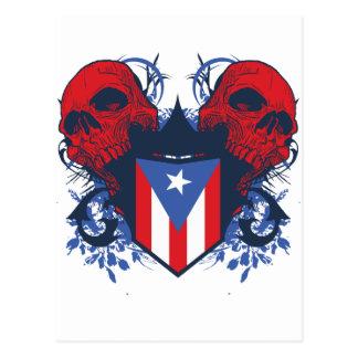 Puerto Rico Skulls Postcard