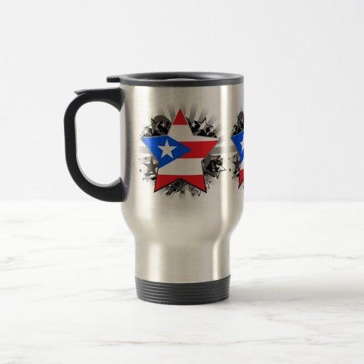 Puerto Rico Star 15 Oz Stainless Steel Travel Mug