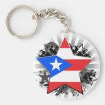 Puerto Rico Star Key Chains