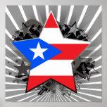 Puerto Rico Star Poster