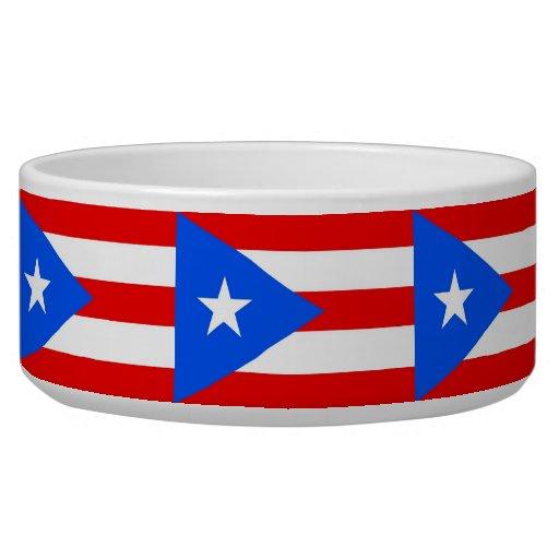 Puerto Rico State Flag Pet Bowl