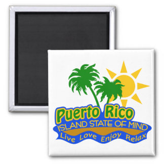 Puerto Rico State of Mind magnet