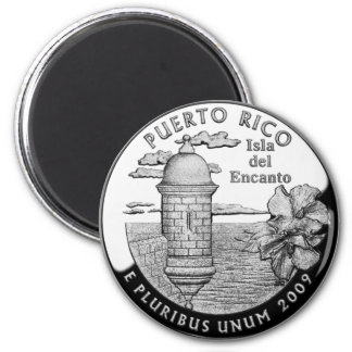 Puerto Rico state quarter 2 Inch Round Magnet