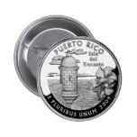 Puerto Rico state quarter Pinback Button