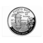 Puerto Rico state quarter Postcard