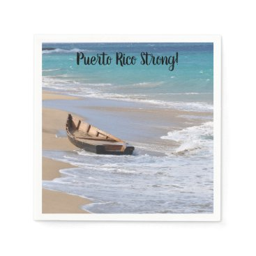"Beach Themed ""Puerto RIco Strong"" cocktail napkins"