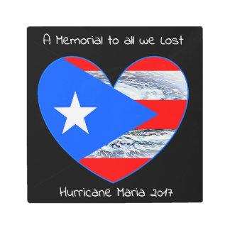 Puerto Rico Strong Flag Hurricane Maria Metal Art
