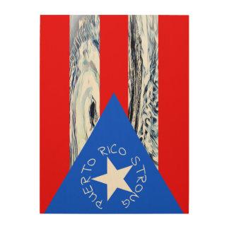 Puerto Rico Strong Flag Hurricane Maria Wood Art
