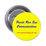 Puerto Rico Sun Communications 2 Inch Round Button