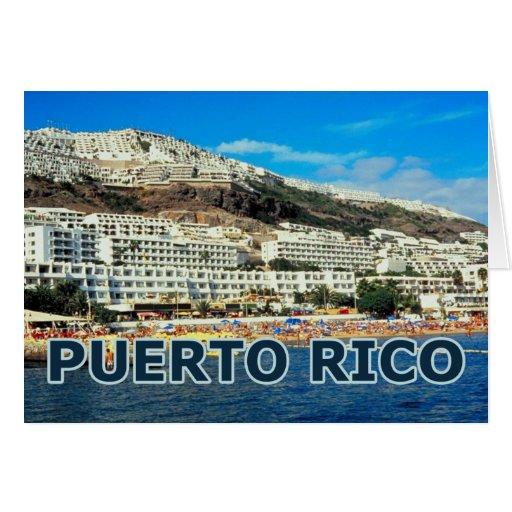 Puerto Rico Tarjeta De Felicitación