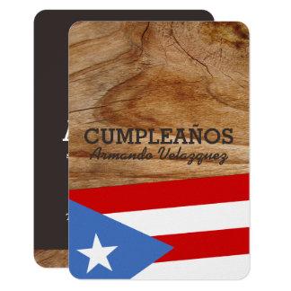 Puerto Rico Theme Party Card