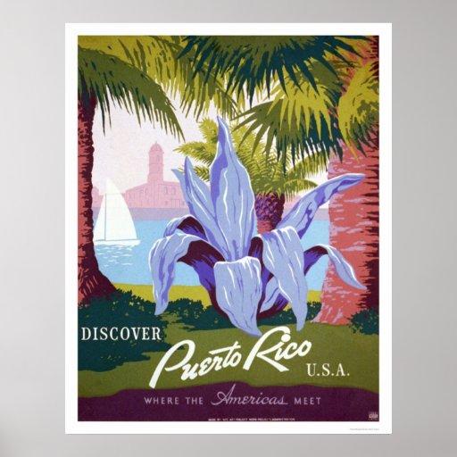 Puerto Rico Tourism 1940 WPA Print
