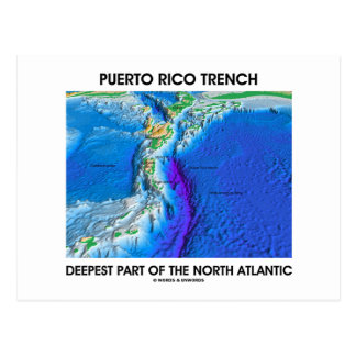 Puerto Rico Trench Deepest Part Of The N. Atlantic Postcard